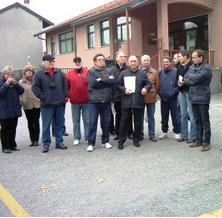 Un gruppo di aderenti al Comitato spontaneo